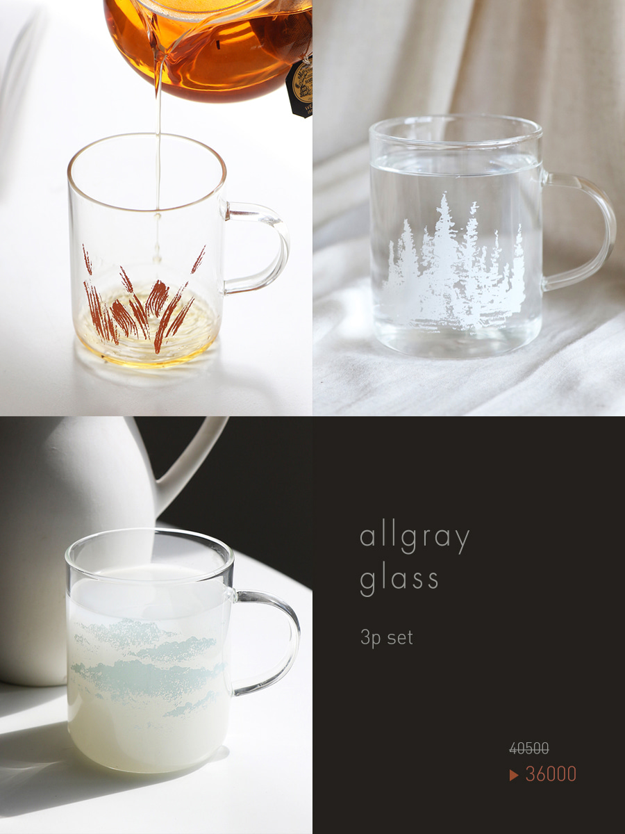 allgray glass _ 3p set